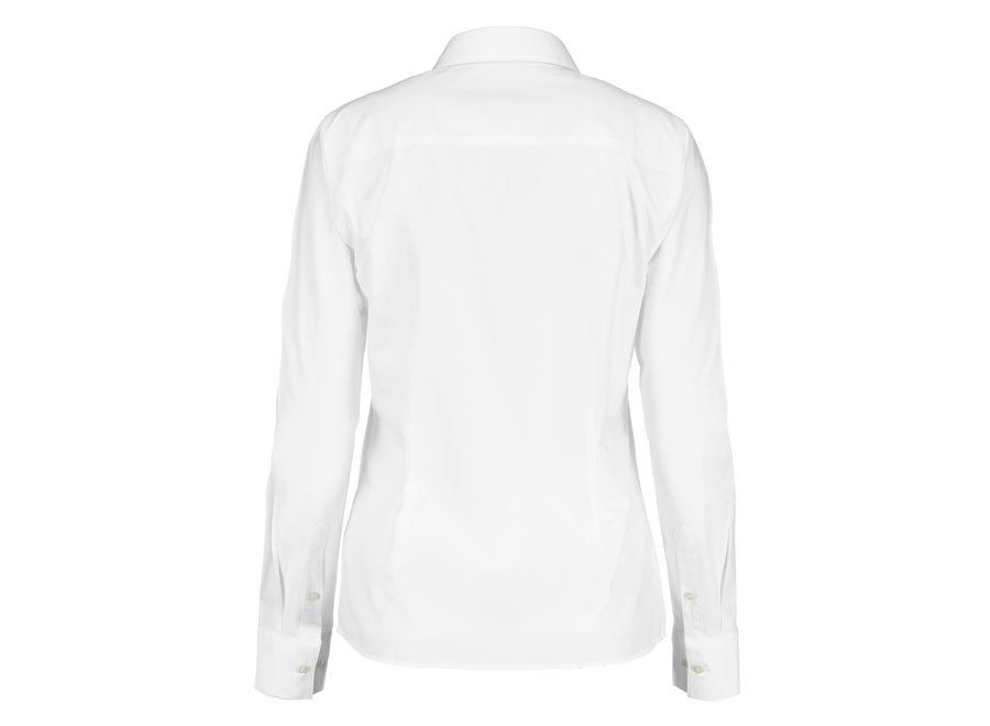 Blouse dames easy care zwart wit