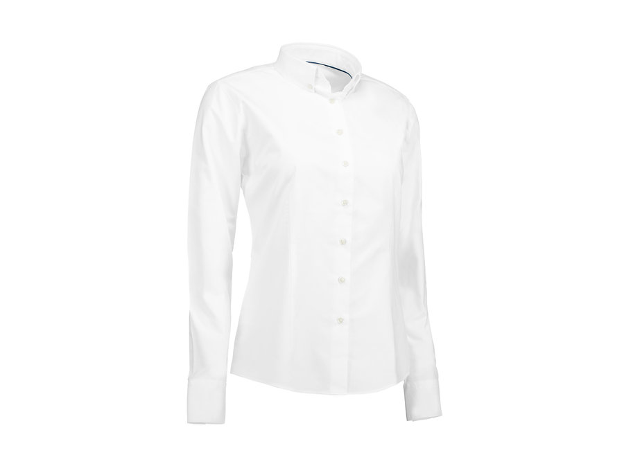 Blouse dames  easy care wit