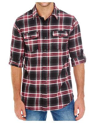 Burnside Geruite blouse heren in 5 kleuren