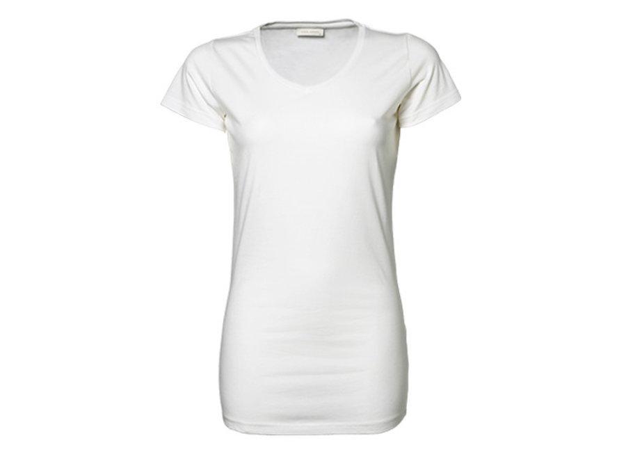 Shirt dames extra lang met stretch in 2 kleuren