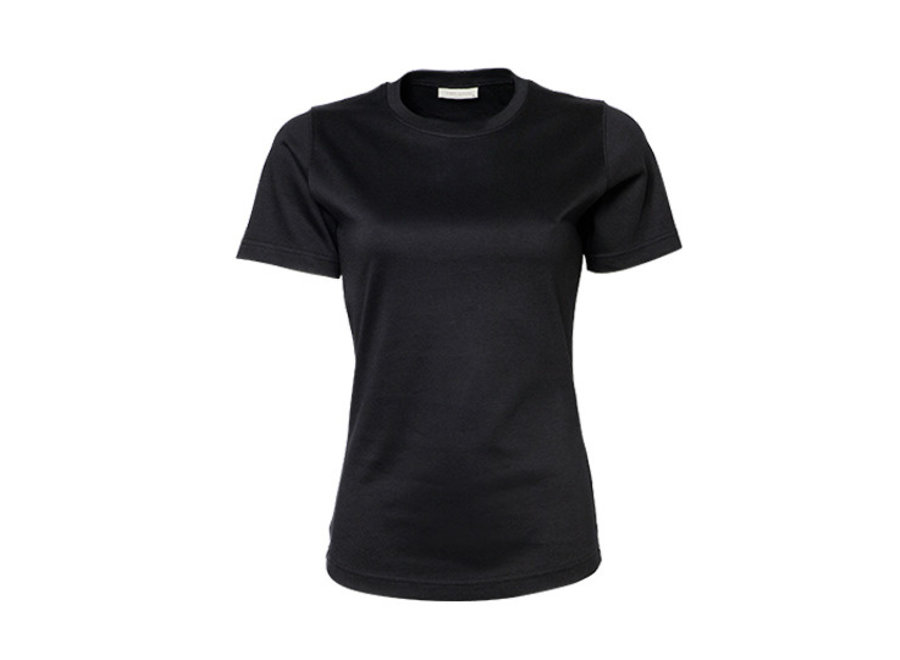 Dames t-shirt  zwart of wit,  60º wasbaar