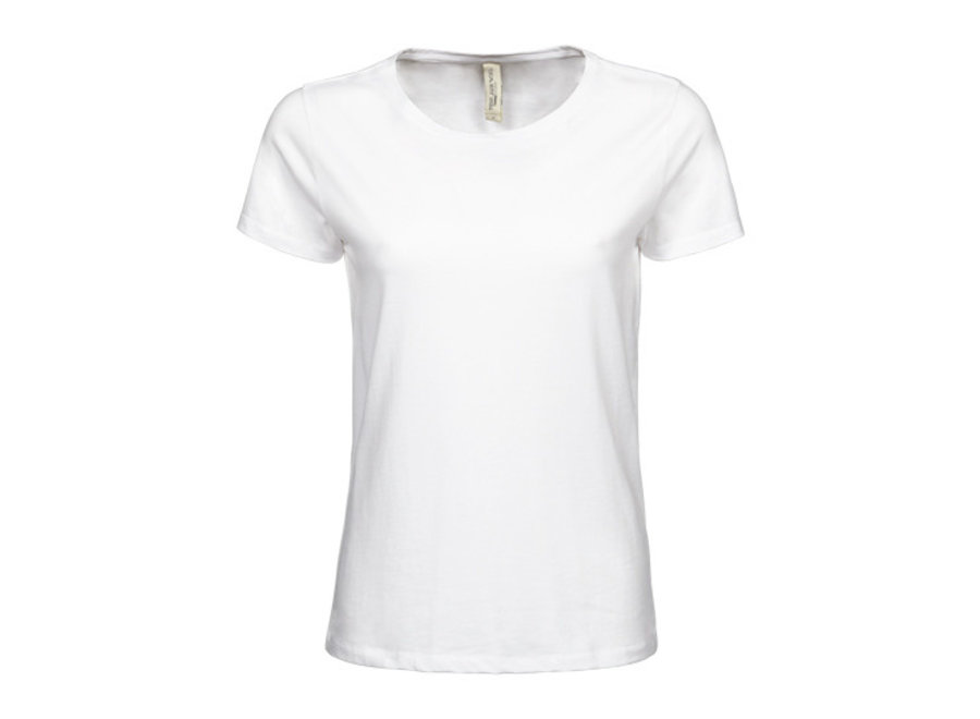 Luxe t-shirt met stretch, biologisch katoen dames