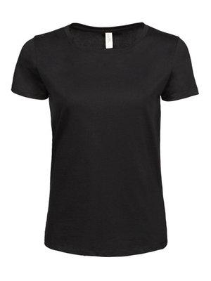 Teejays Luxe t-shirt met stretch, biologisch katoen dames