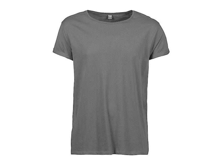 T-shirt roll up mouw heren  organic cotton in 3 kleuren