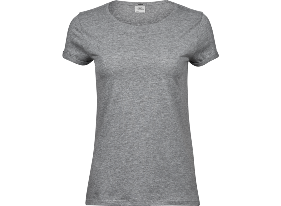 T-shirt roll up mouw dames  organic cotton in 3 kleuren - Copy