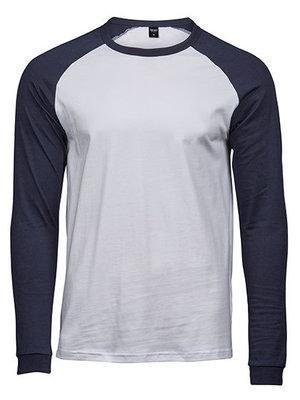 Teejays Baseball shirt heren in 4 kleurencombinaties heren