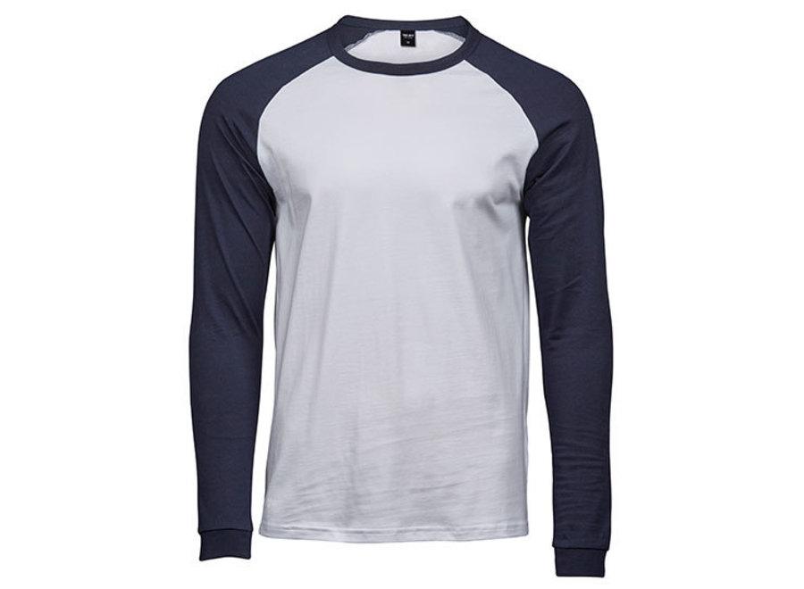 Baseball shirt heren in 4 kleurencombinaties heren