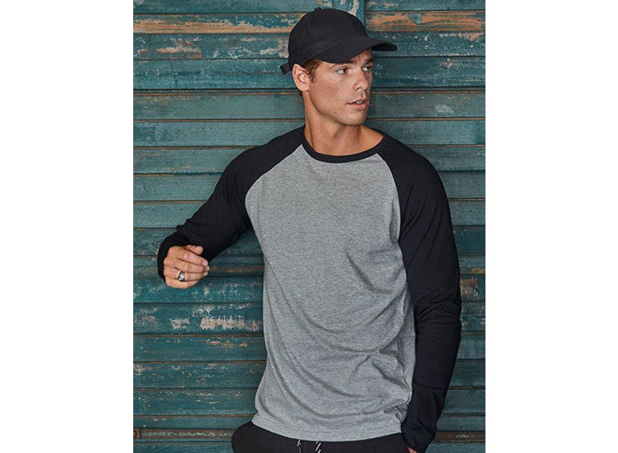 Baseball shirt heren in 4 kleurencombinaties