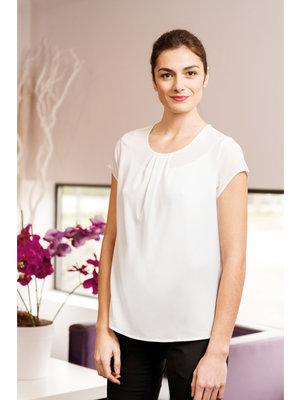 Premier Dames blouse korte mouw blauw of wit