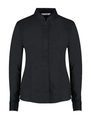 Bargear Dames blouse mandarin kraag zwart