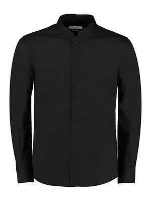 Bargear Overhemd heren Mandarin kraag Zwart