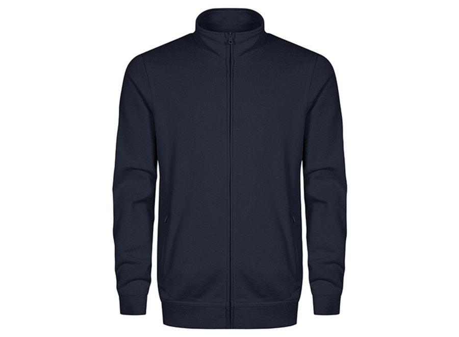 Vest heren met openstaande kraag niet-pluizend