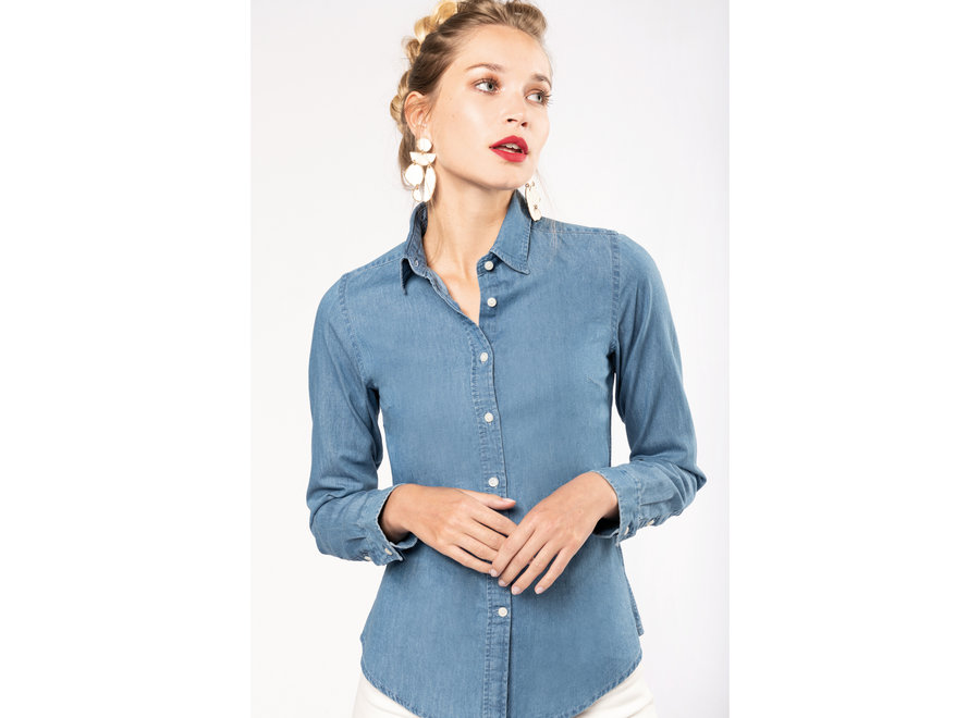 Spijkerblouse Chambray