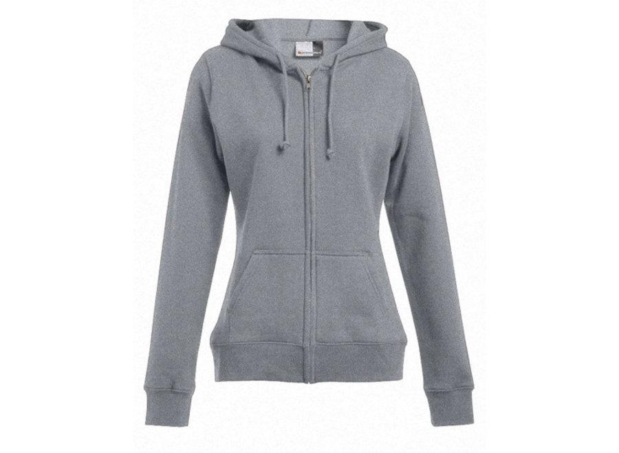 Damesvest met ritssluiting en hoodie