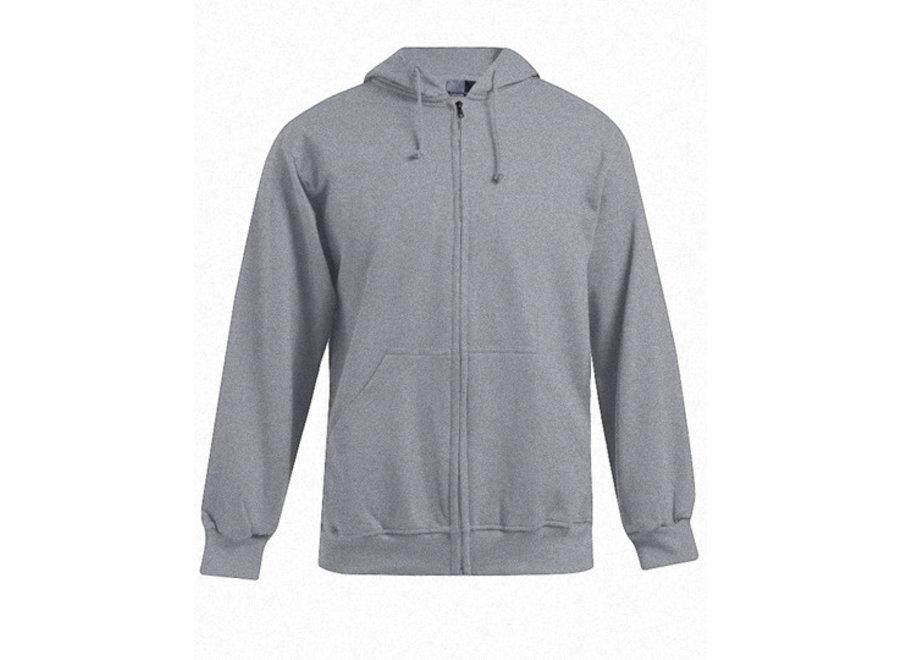 Herenvest met ritssluiting en hoodie