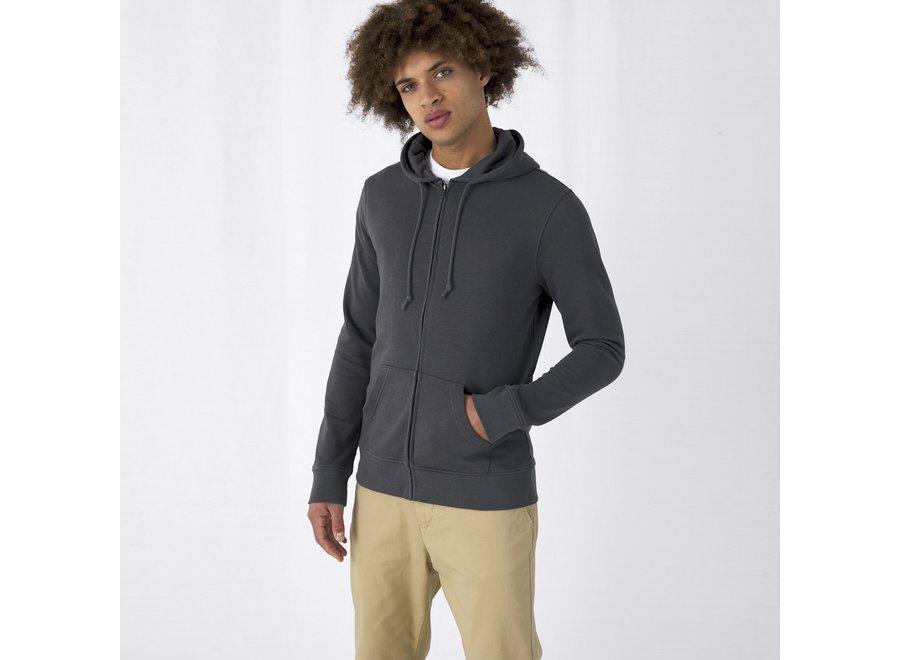 Vest unisex met capuchon en rits - organic cotton