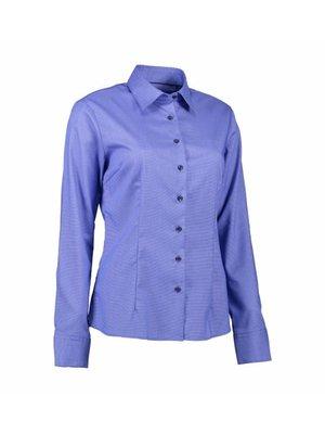 ID Identity Non Iron Dames overhemd - Dobby Royal Oxford - Modern Fit in 4 kleuren