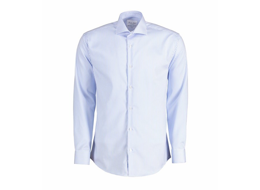 Non Iron Heren overhemd - Gestreept - Modern of Slim fit in 2 kleuren