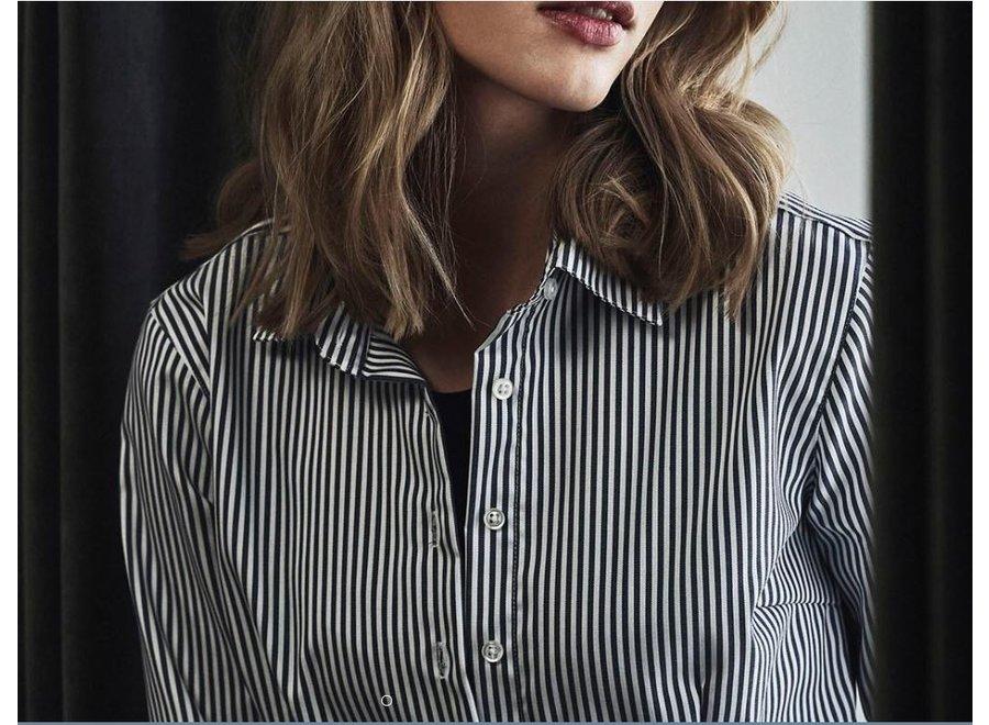 Non Iron Dames overhemd - gestreept - Modern Fit in 2 kleuren