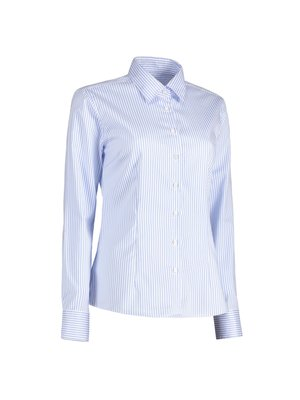 ID Identity Non Iron Dames overhemd - gestreept - Modern Fit in 2 kleuren