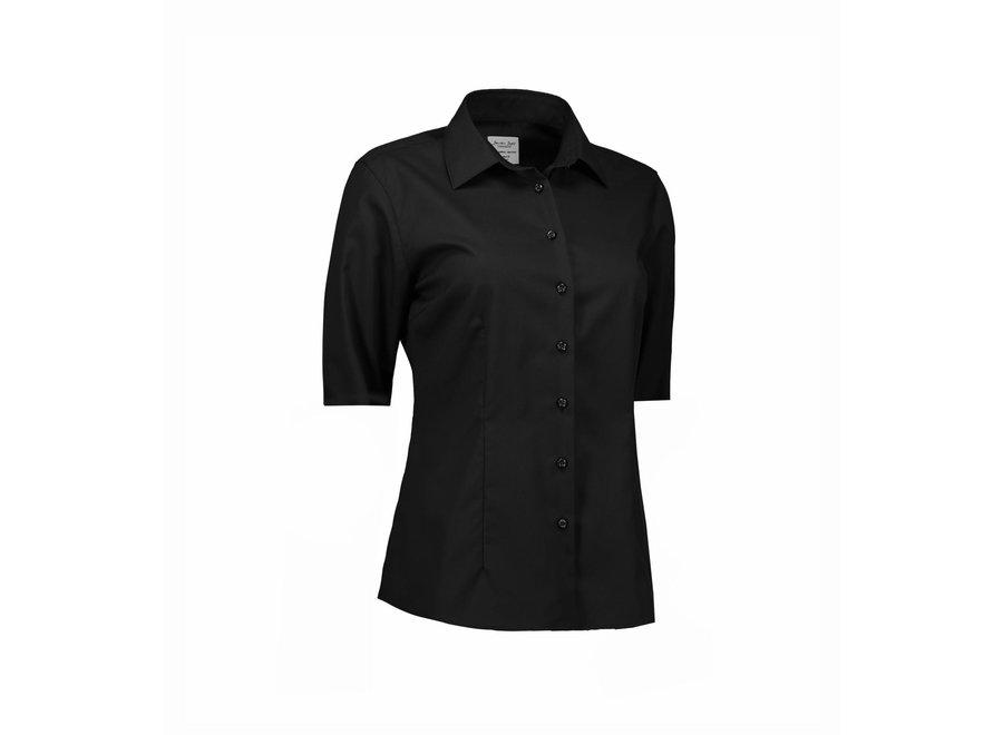 Non Iron Dames blouse -  short sleeve - Modern Fit in 3 kleuren