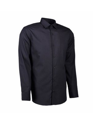 ID Identity Non Iron Heren overhemd - Dobby - Modern Fit of Slim Fit in 4 kleuren
