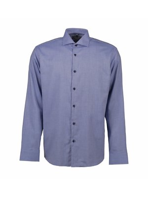ID Identity Non Iron Heren overhemd - geruit Dobby Alonso -  Modern Fit of Slim Fit