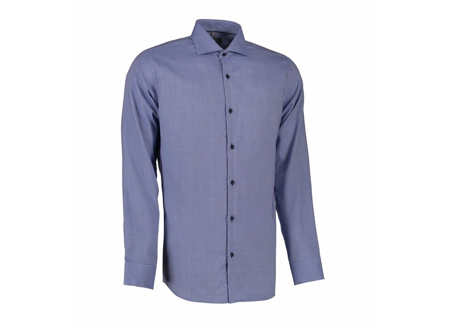 Non Iron Heren overhemd - geruit Dobby Alonso -  Modern Fit of Slim Fit