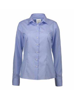 ID Identity Non Iron Dames overhemd - Gestreept California Fine Twill - Modern Fit in 2 kleuren