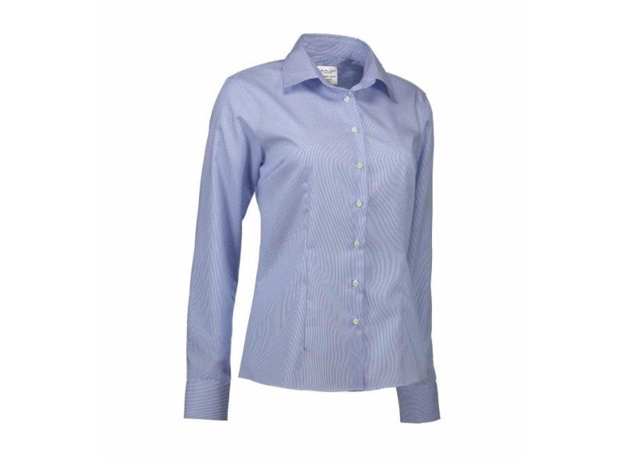 Non Iron Dames overhemd - Gestreept California Fine Twill - Modern Fit in 2 kleuren