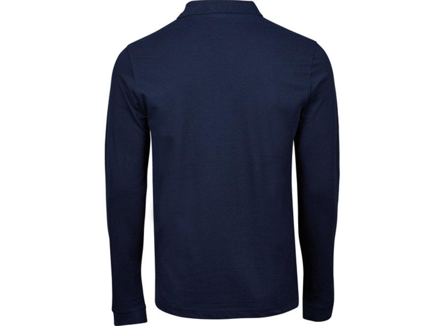 Luxury Stretch Long Sleeve Polo heren in 3 kleuren