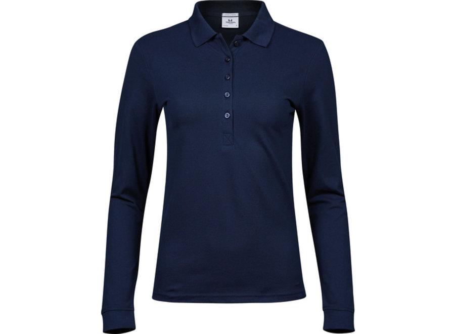 Luxury Stretch Long Sleeve Polo dames in 3 kleuren