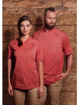 Karlowsky Jeans Style Short sleeve Chef jacket - heren