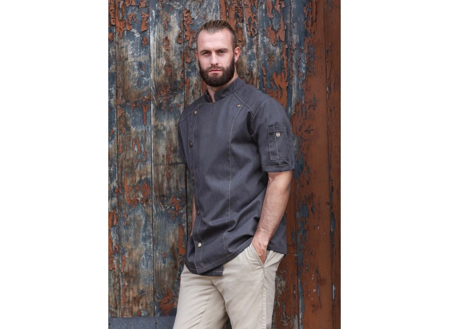 Jeans Style Short sleeve Chef jacket - heren