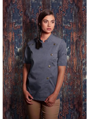 Karlowsky Jeans Style Short sleeve Chef jacket - dames
