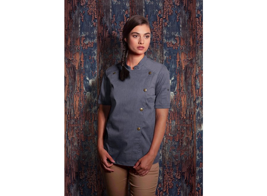 Jeans Style Short sleeve Chef jacket - dames