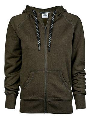 Teejays Hoge kwaliteit dames hoodie met rits in 6 kleuren