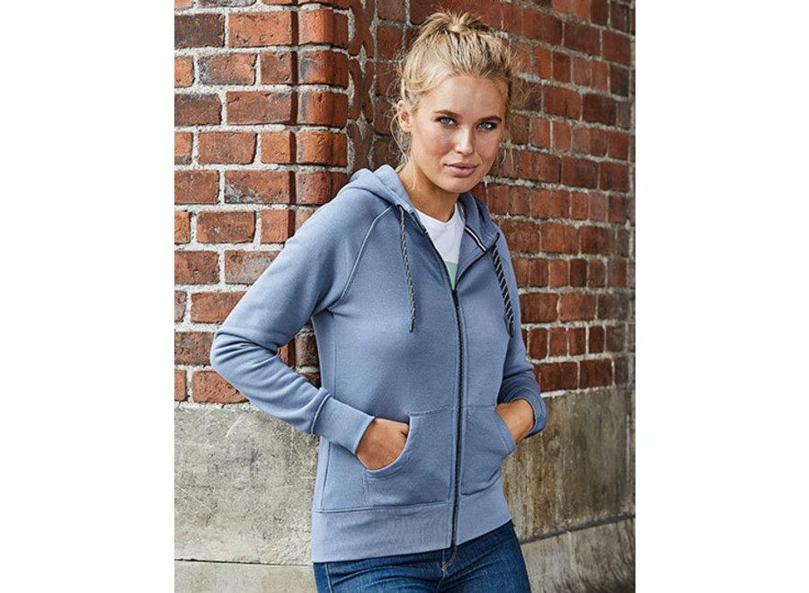 Hoge kwaliteit dames hoodie met rits in 6 kleuren