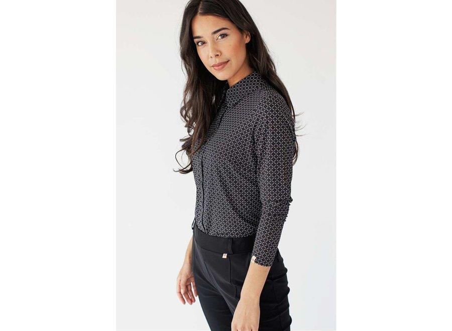 Giethoorn cravat blouse