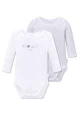 Schiesser Baby Bodies 2-pack lange mouw multi-color