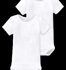Schiesser Baby Bodies 2-pack korte mouw wit