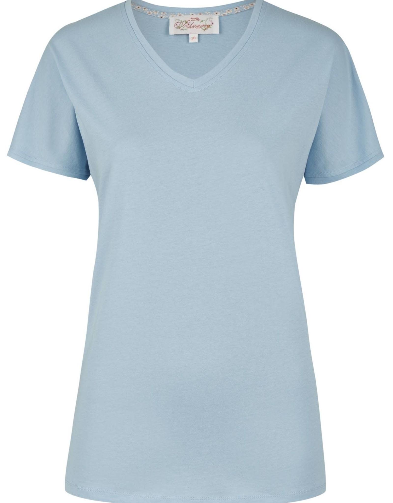 Ringella Bloomy pyjamashirt, 7/8 broek, summer sky