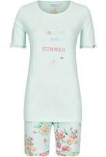 Ringella Ringella pyjama korte mouw, met shorty, lagune