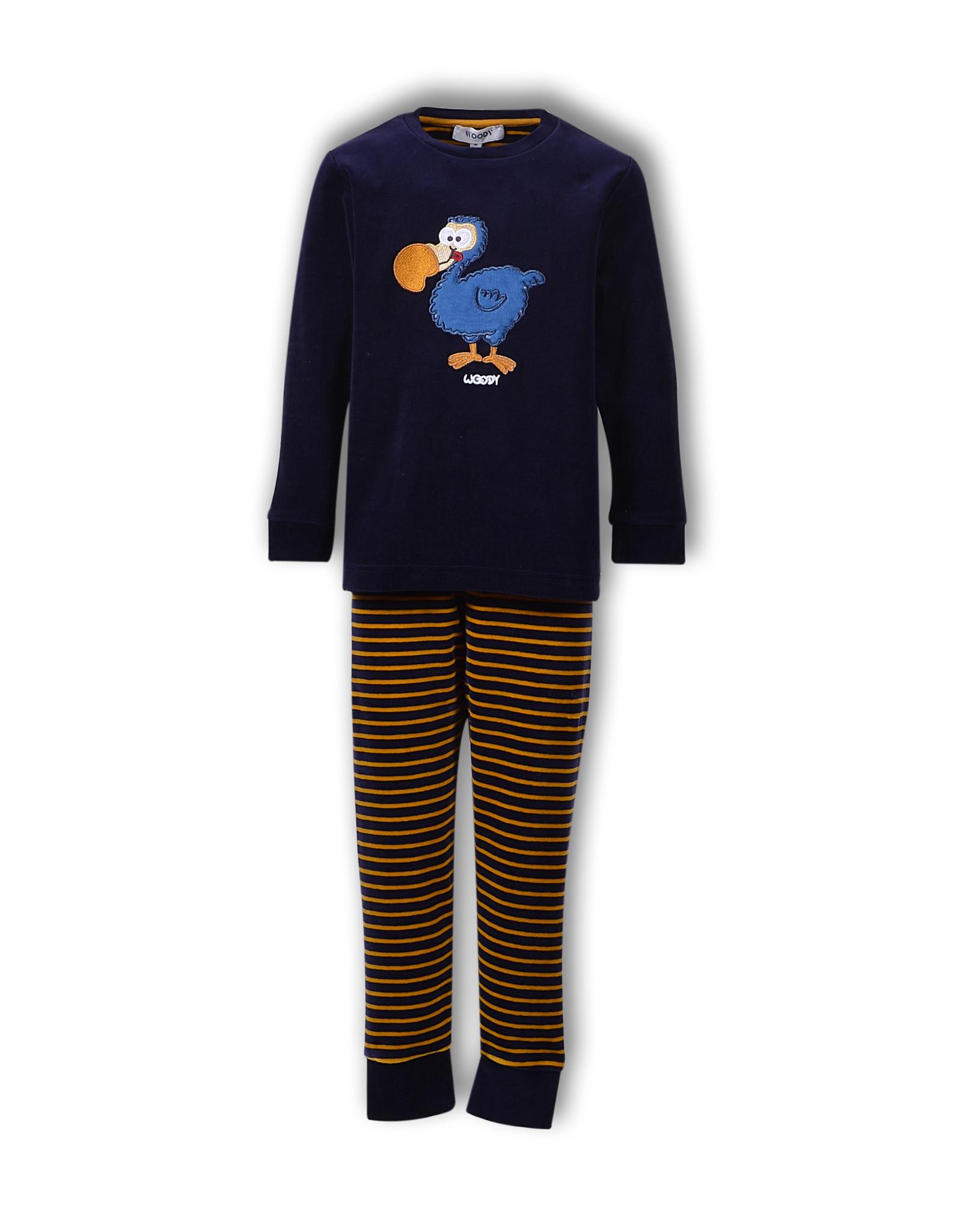 Woody Jongenspyjama Dodo, blauw