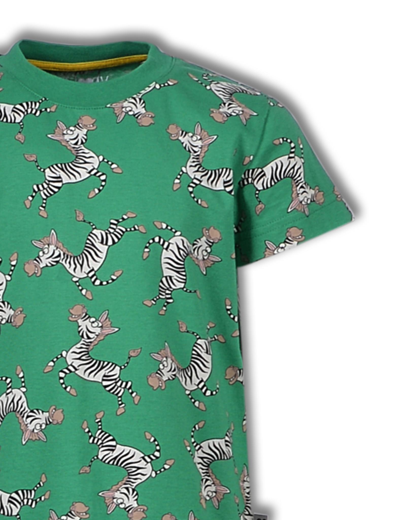 Woody Jongenspyjama Zebra, green