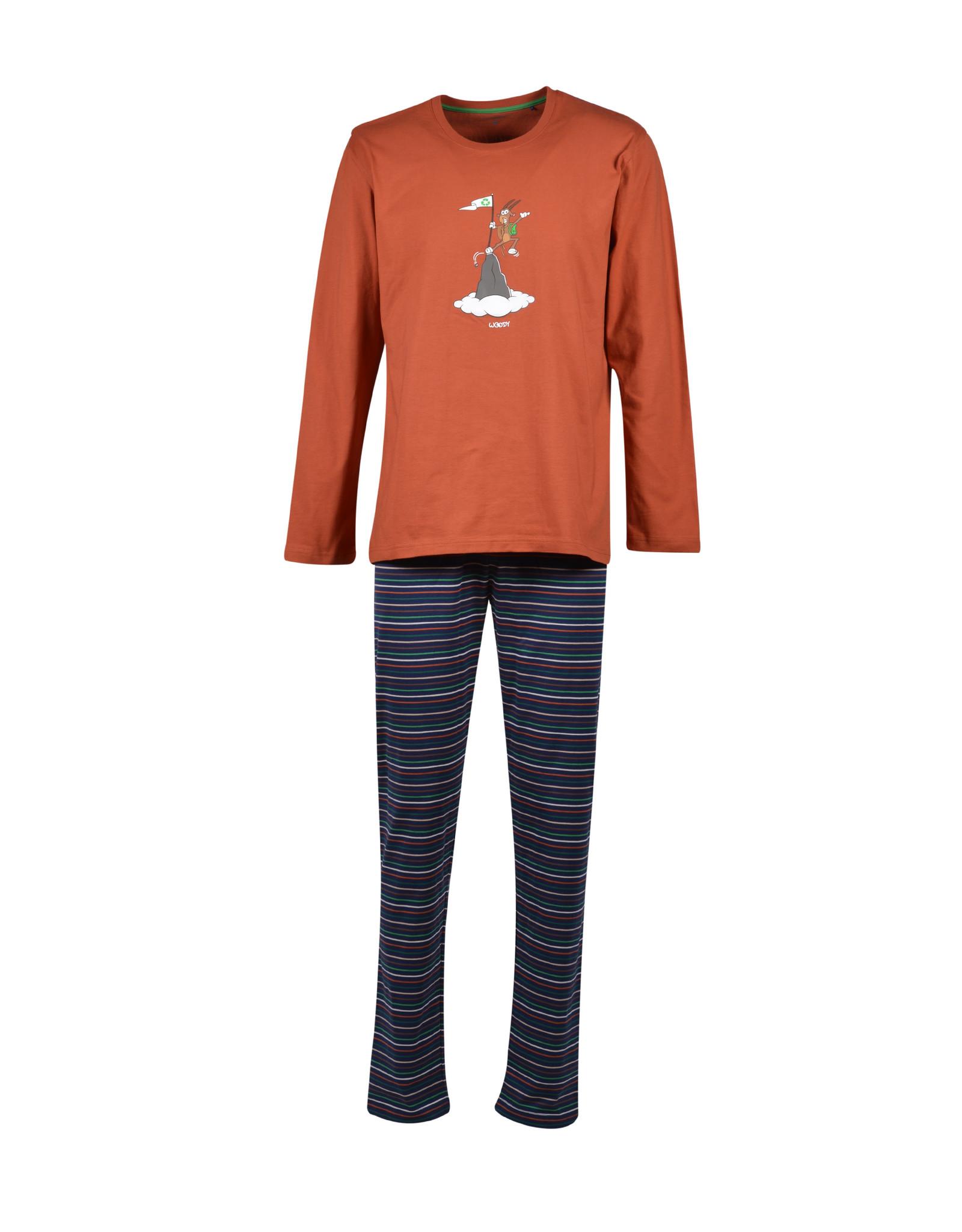 Woody Jongens pyjama, roest