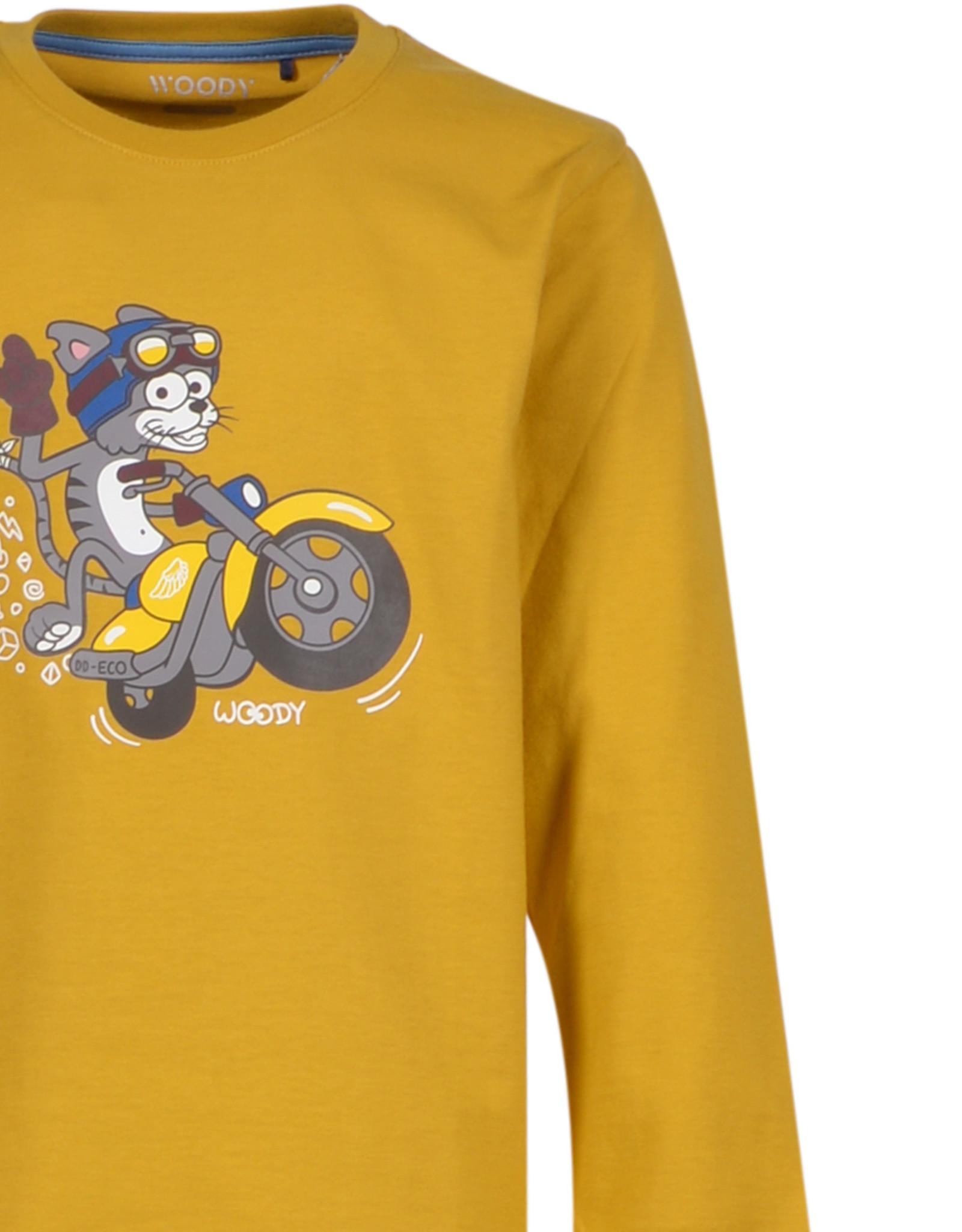 Woody Jongens pyjama, currygeel