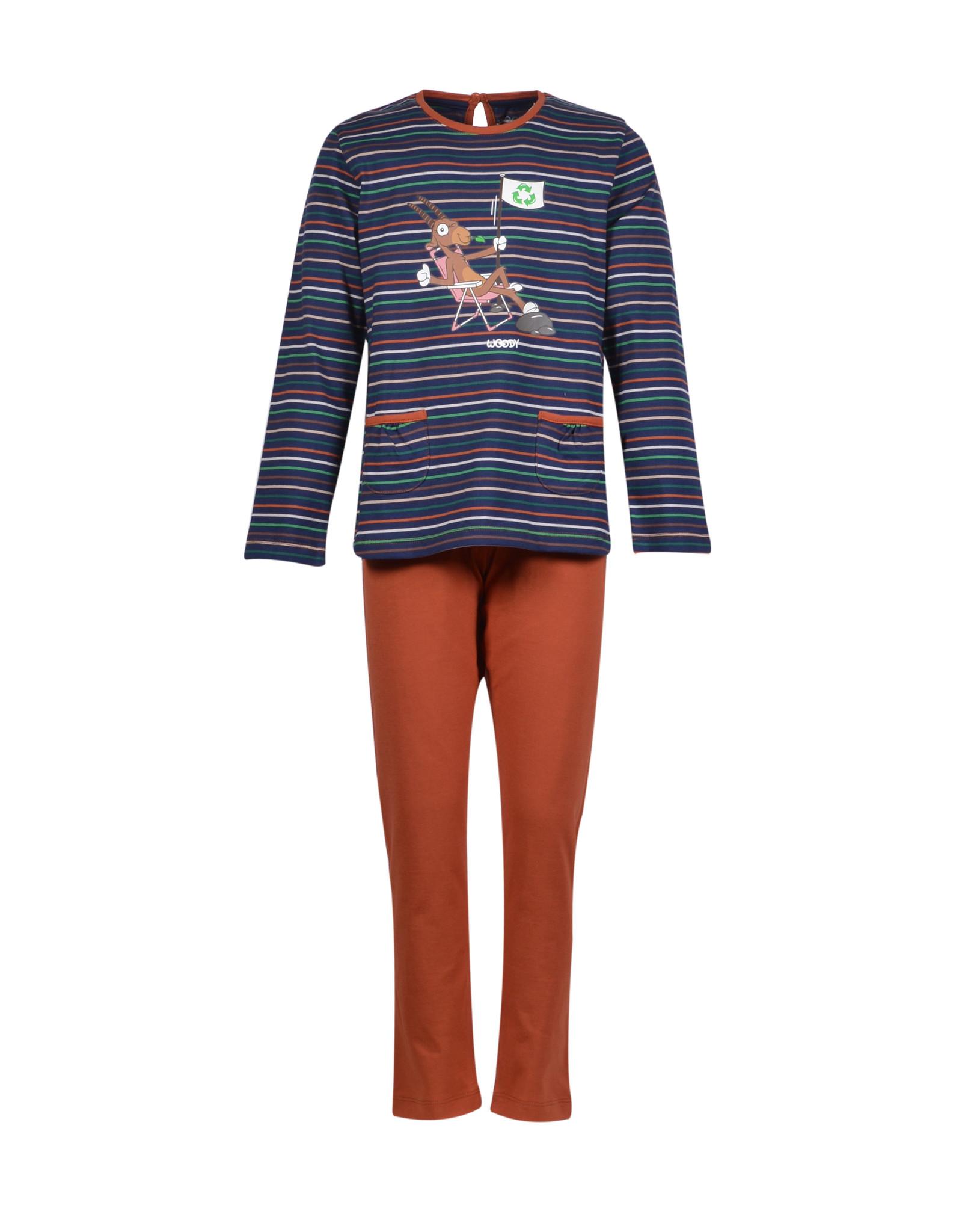 Woody Meisjes pyjama, multicolor