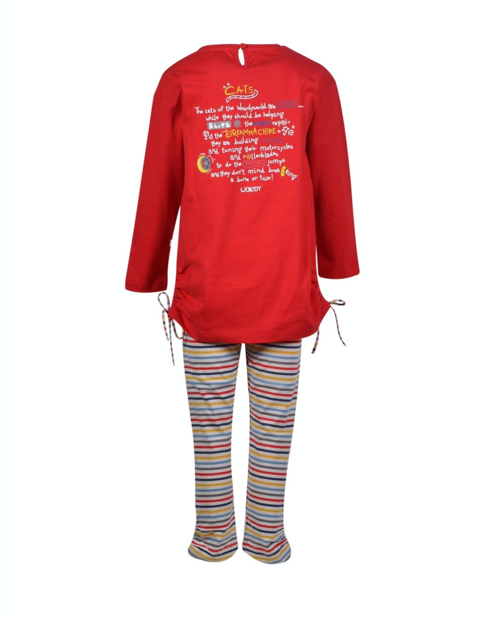 Woody Meisjes pyjama, rood