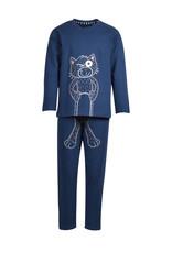 Woody Jongenspyjama, petrolblauw